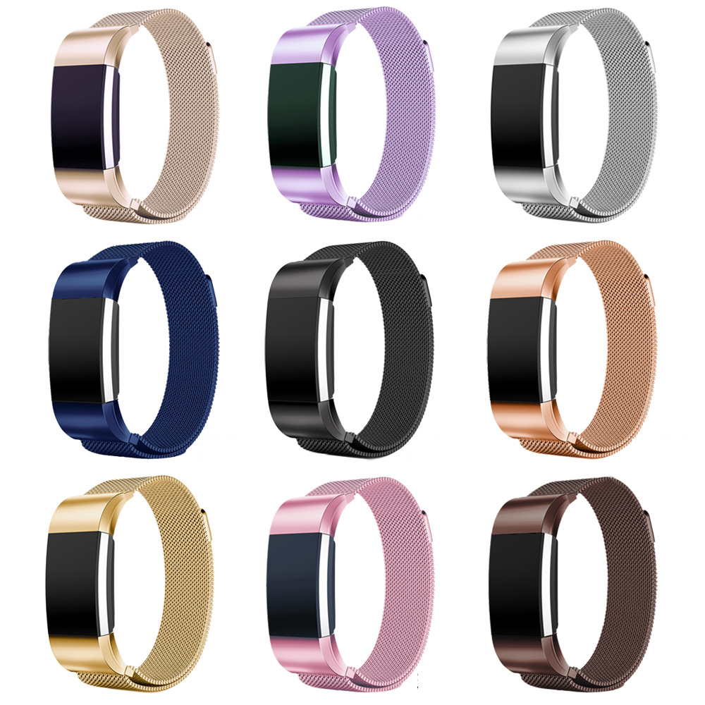 For Fitbit charge 2 Band Milanese Magnetic Stainless Steel Bracelet Replace Strap For fitbit charge 2 band Bracelet Wrist Strap