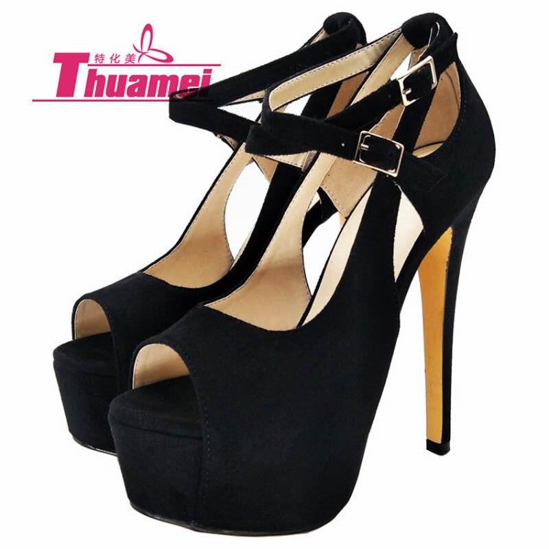 Finos Mejor Moda 16 Y0737421f Negro Bombas Mujeres Nueva Las Altos De  Plataforma Zapatos Mujer Tacones ... 4b605486fd89