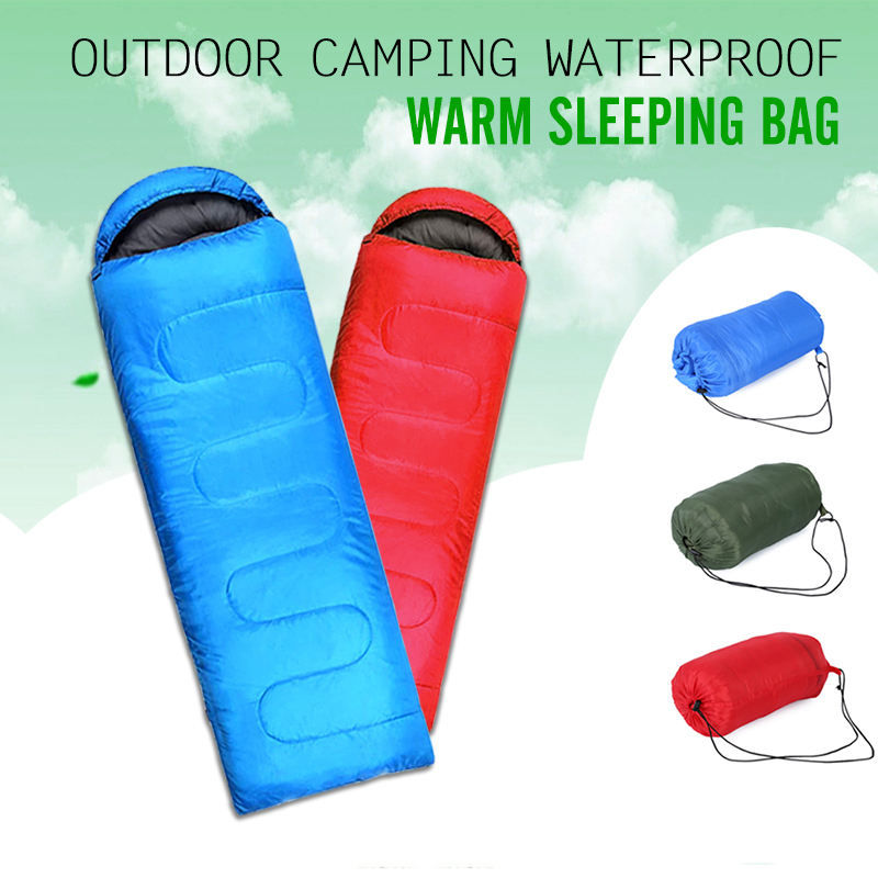 Multifuntional Outdoor Thermal Sleeping Bag Envelope Hooded Travel Camping Keep Warm Water Resistant Sleeping Bags Lazy Bag стоимость
