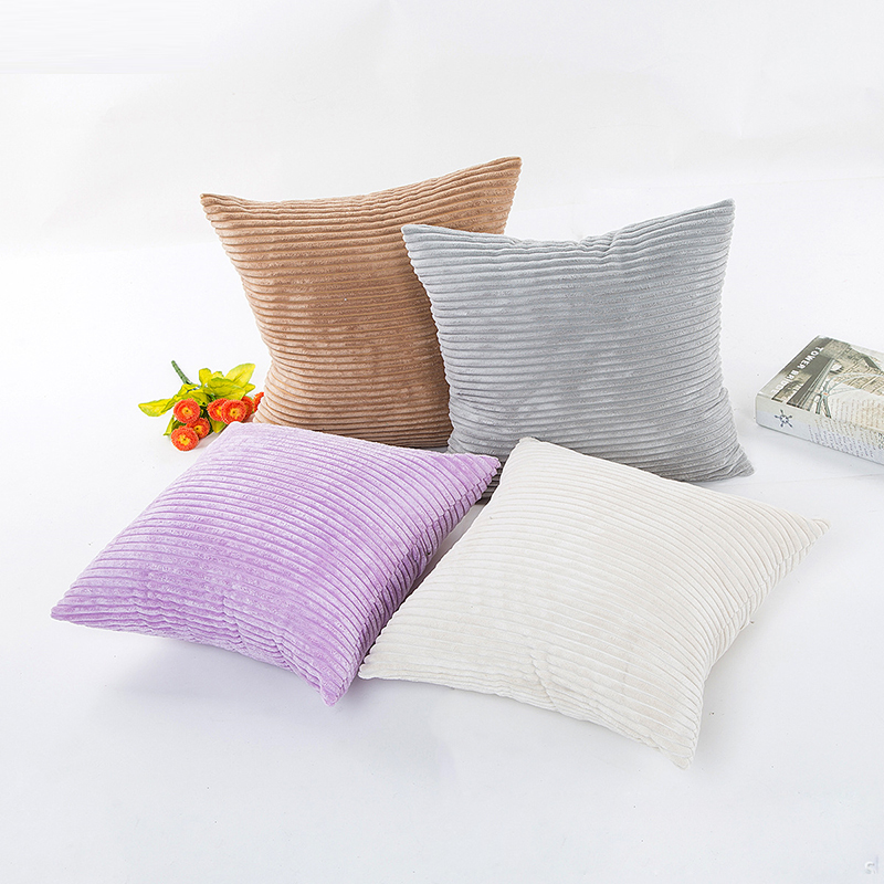 1Pcs Square Corduroy Corn Kernels Pillow Case Soft Solid Color Cushion Cover Office Sofa Car Throw Pillowcase Home Decor 45*45cm