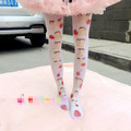 Princess sweet lolita pantyhose  Is a soft sister cute of cartoon printing pantyhose LKW205