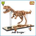 Mr. froger tyrannosaurus rex creador del bloque de diamante loz dinosaur series rey fósil t-rex bloques de construcción juguetes clásicos niños