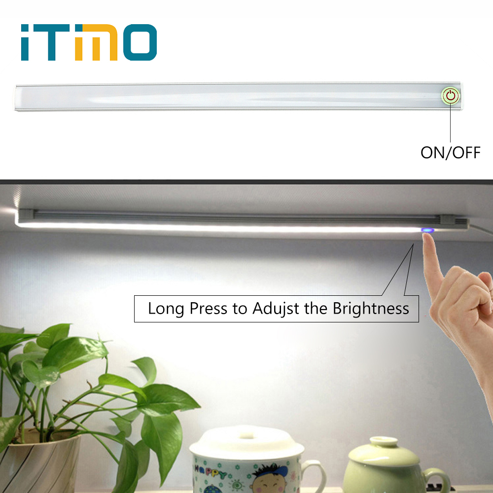 ITimo USB LED Desk Lamp DC 5V for Book Reading Study Office Work LED Strip Light Bar Home Lighting Night Light Touch Table Light 30 55cm 6w usb led table lamp portable night light 2835 beside reading book work desk lamp 5v led rigid strip bar light