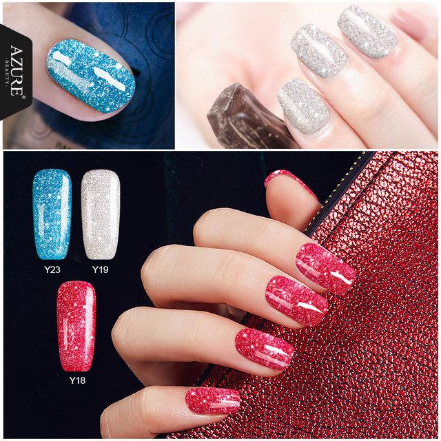 Azure 12ML Nude Glitter Series Nail Gel Polish Shiny Color Soak Off UV Gel Nail Gel Long-lasting Nail Glue Professional LED Gel
