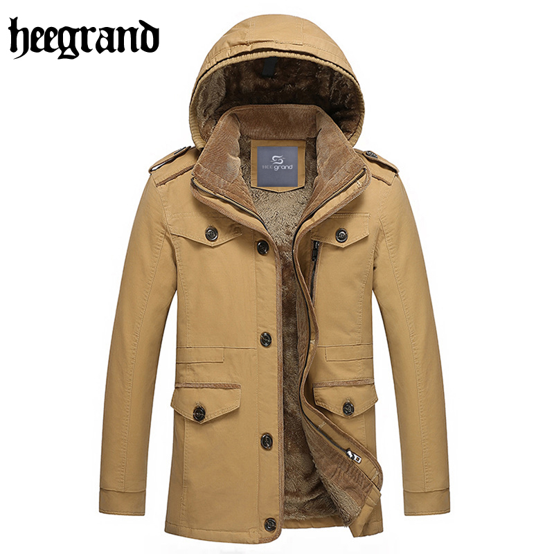 ФОТО HEE GRAND Men's Jacket 2017 New Arrival For Thickening Of Cotton Fashion Overcoat Four Colors Plus Size M-6XL MWM1311