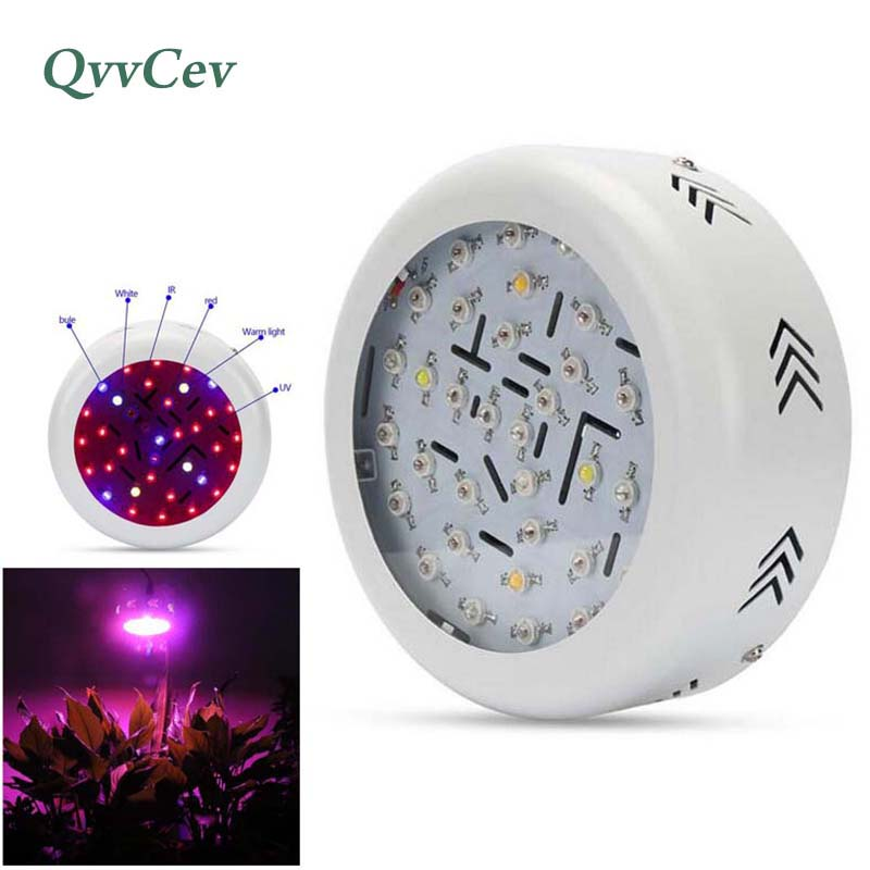 360W Full Spectrum 36 LED UFO Grow Light lamp for vegetable Flower Plant Hydro hydroponics indoor growing lamp red blue lights ufo plant led grow light 360w full spectrum hydroponics flower bloom greenhouse flower grow led uv ir red blue white tent lamp
