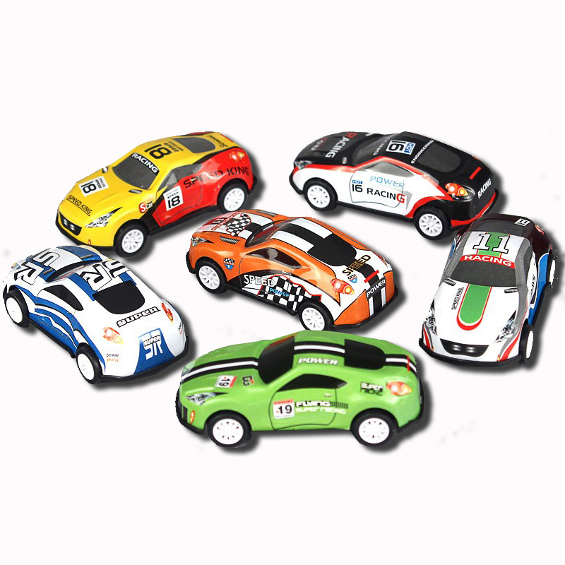 6PCS Alloy Iron Shell Mini Toy Car Diecast 1:64 Oyuncak Araba Racing Pull Back Model Car Small Gift Kids Toys For Children Boys