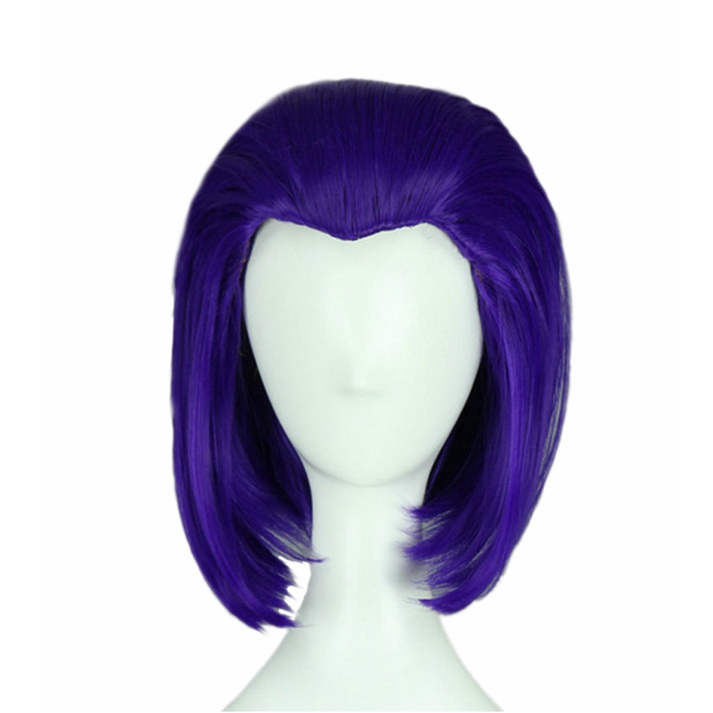 New Teen Titans Raven Wig Cosplay Costume Props Women -7463