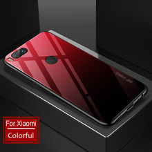 Tempered Glass Case for Xiaomi mi 6 Luxury Hard Soft TPU PC Back Cover Cases for Xiaomi mi a1 a2 5x 6x note 3 Capa Fashion Case(China)