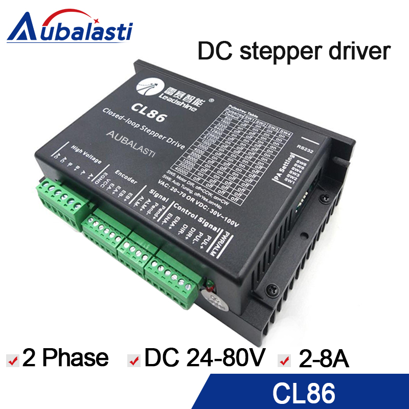 2phase stepper motor driver leadshine CL86 CL serial close loop stepper motor driver VDC24-80V 2-8A for engraver machine 2phase stepper motor driver leadshine CL86 CL serial close loop stepper motor driver VDC24-80V 2-8A for engraver machine