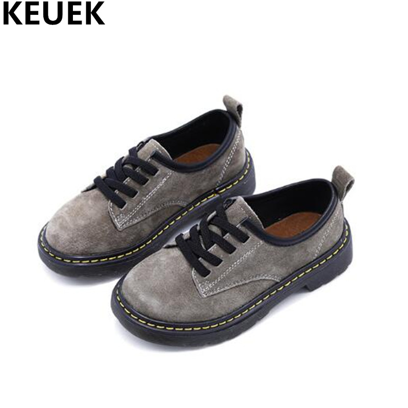New Spring Child Black Genuine Leather Boys Shoes Girls Casual Fashion Europe Student Cow Muscle Flats Kids Shoes Toddler 019 2016 spring child sport shoes leather boys shoes girls wear resistant casual shoes