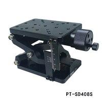 PT-SD408 정밀 수동 리프트 Z 축 리프트 리프팅 플랫폼 플러스 눈금자 60mm 이동