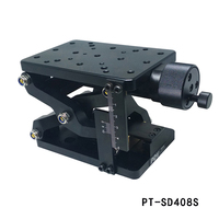 PT-SD408 정밀 수동 리프트 z 축 리프트 리프팅 플랫폼 플러스 눈금자 60mm 여행