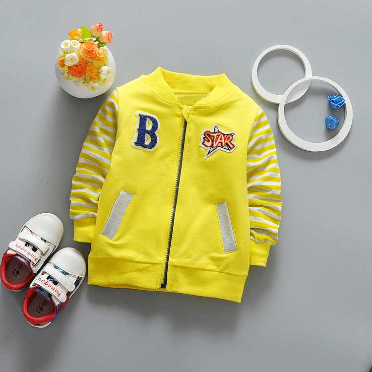 2017-New-Spring-Casual-Baby-boyls-Childrens-Long-sleeve-Striped-Sleeves-Letter-B-patch-Outwear-Coats-jack-cardigan-Y2040-1