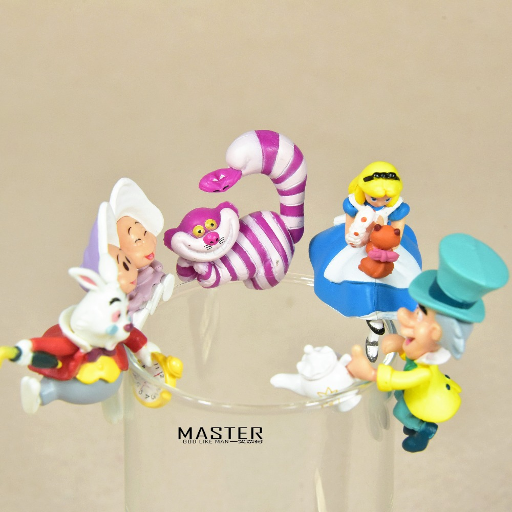 3-4cm Alice In Wonderland PVC Action Figure Toys Collection Adorable Collectible Model For Children Gift With Color Packing
