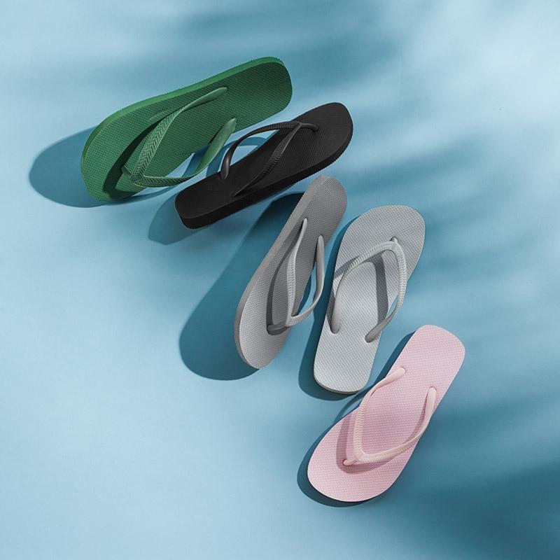 Couple Slipper Cloth Rainbow Print Flip Flops Chic Sandals Rubber Non-Slip Spa Thong Slippers