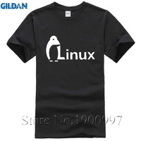 The Dark Knight LINUX penguin Logo Long sleeve T Shirt Men new Fashion wordart of LINUX T-shirtComical Shirt Men'SWhite Style