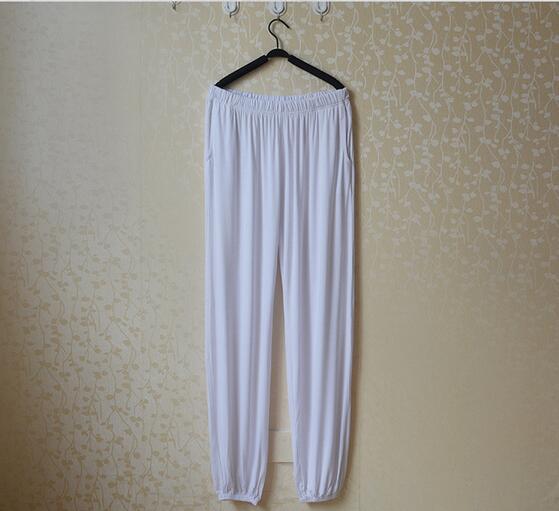Spring Summer Women's Trousers For Home Pajama Bottoms Cotton Sleep Pants Women Pajama Trousers Black Plus Size XL-XXXL Q207 2