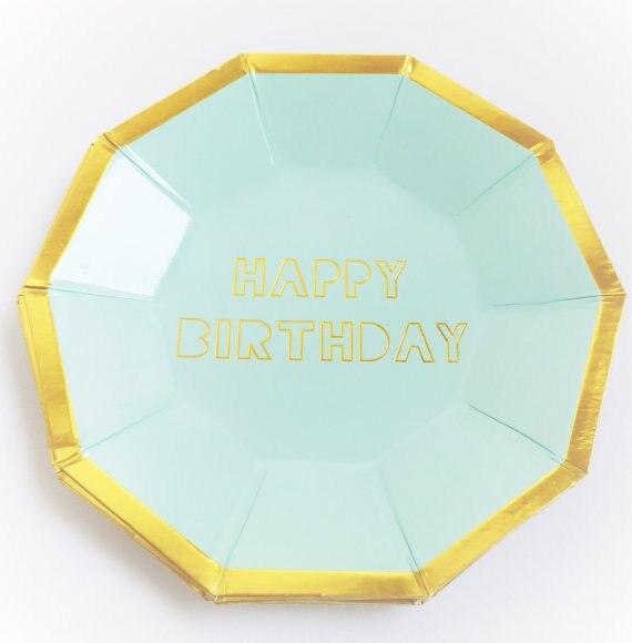First Birthday Paper Plates Amp Boys 1st Birthday Paper