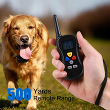 600 M Remote Rechargeable Waterproof Electronic Pet Dog Training Collar Anti-Bark Dog Cat Collar Leads With LCD Display