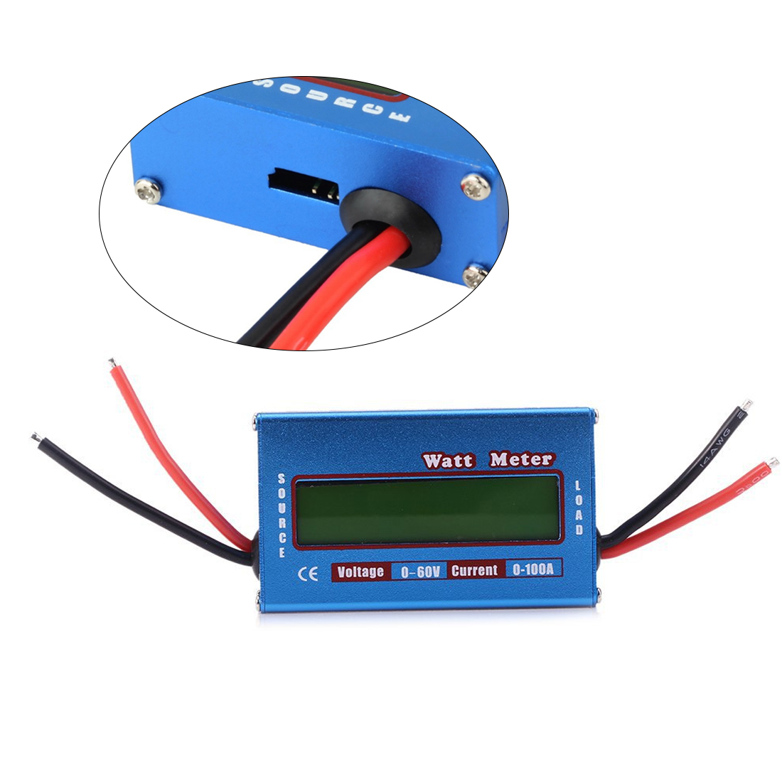 Analyzer Watt Meter Digital LCD For DC 60V/100A Balance Voltage RC Battery Power Watt's figure Power analyzer new digital balance voltage power watt meter analyzer tester checker for rc helicopter battery charger 60v 100a wattmeter