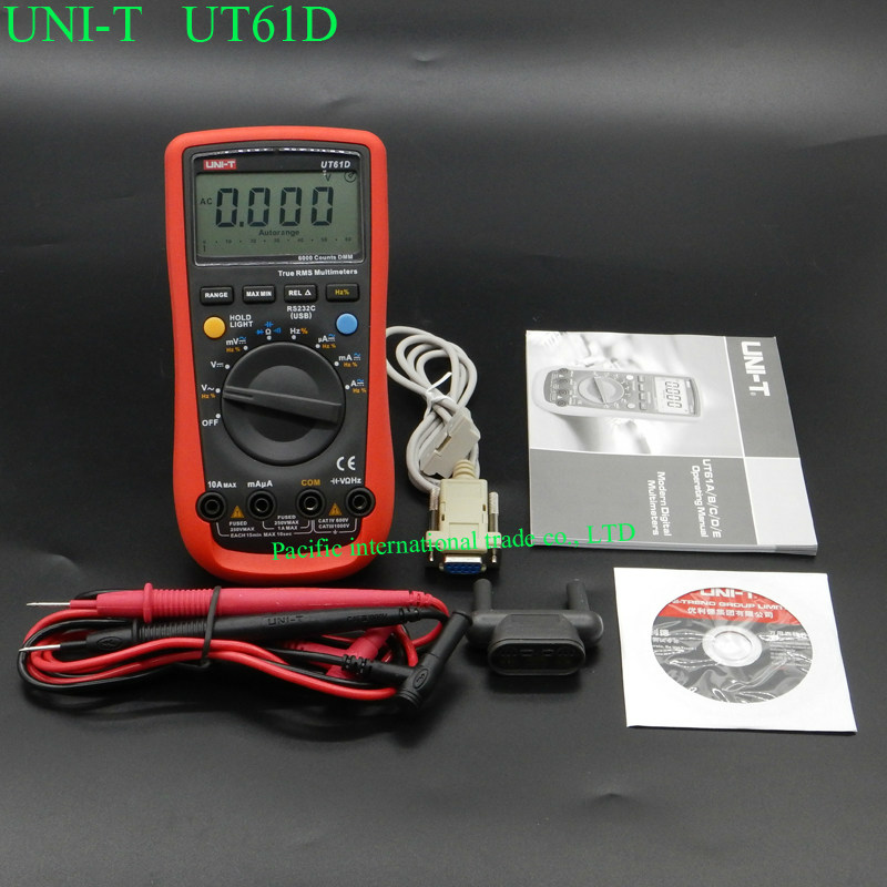 Digital Multimeter UNI-T UT61D True RMS Auto Range 6000 Counts Modern Digital Multimeters  ACDC Meter CD Backlight uni t ut151e digital multimeter atv 250cc laptops digital multimeter