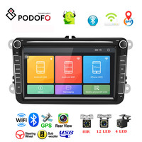 Podofo Android 8.1 Car Multimedia DVD Player 2 Din 8 GPS Navigation Autoradio For Skoda VW Passat B6 Polo Golf 4 5 Touran Seat
