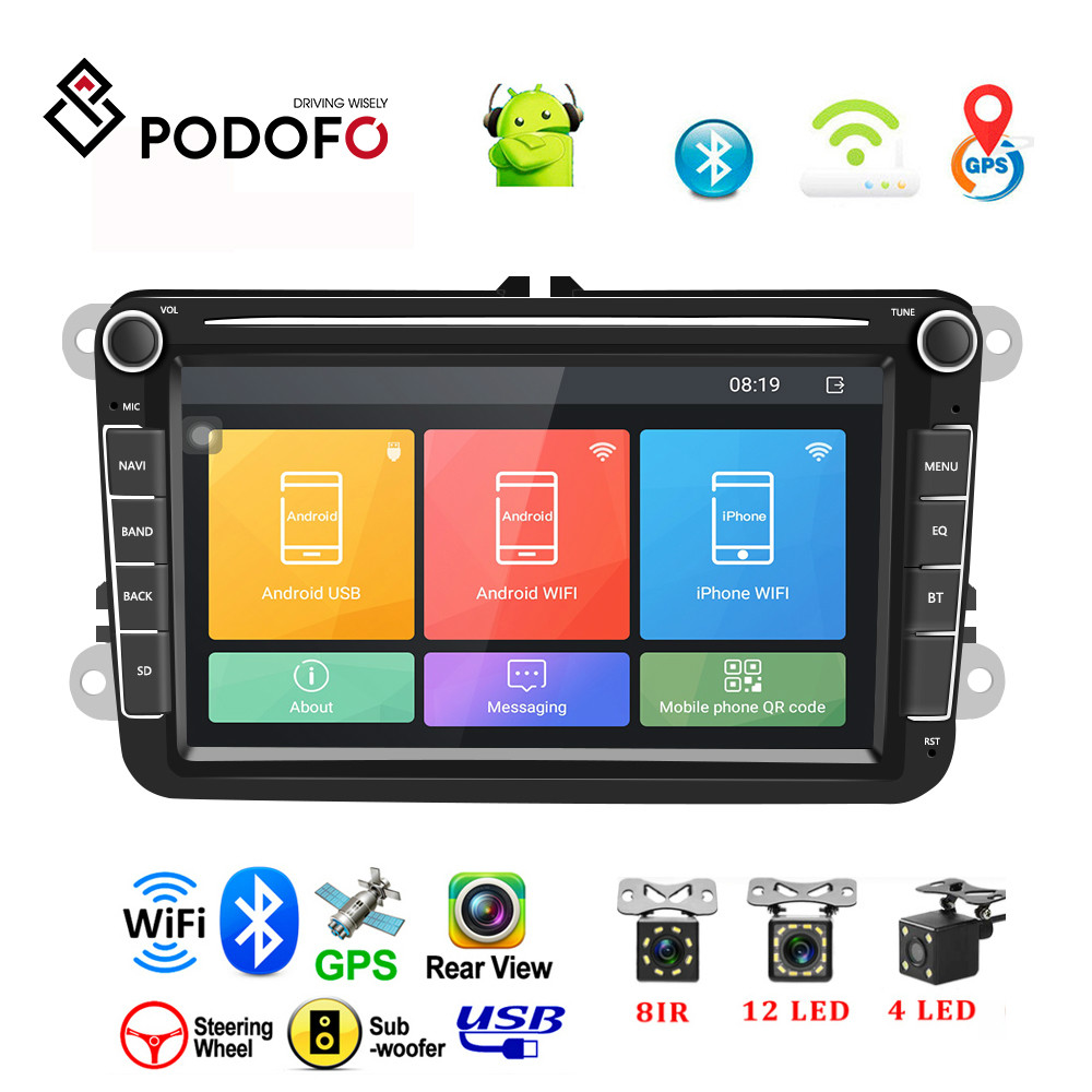 Podofo <font><b>Android</b></font> <font><b>8</b></font>.<font><b>1</b></font> Car Multimedia DVD Player <font><b>2</b></font> <font><b>Din</b></font> <font><b>8</b></font>