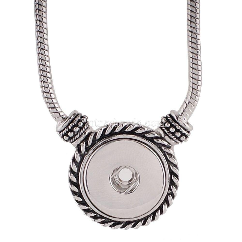 2018 Neue Mode Ethnischen Stil Quaste Anhänger Halsketten Snap Schmuck Fit Diy 18mm Snap Tasten Perlen Schmuck Großhandel Kc0929 Mit Dem Besten Service
