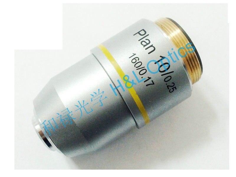 High Quality Biological Microscope 10x Plan achromatic objective lenseHigh Quality Biological Microscope 10x Plan achromatic objective lense
