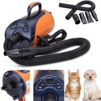 2800W Dog Cat Pet Dryer LED Display 8 step Speed Blaster Blower Heater Dryer