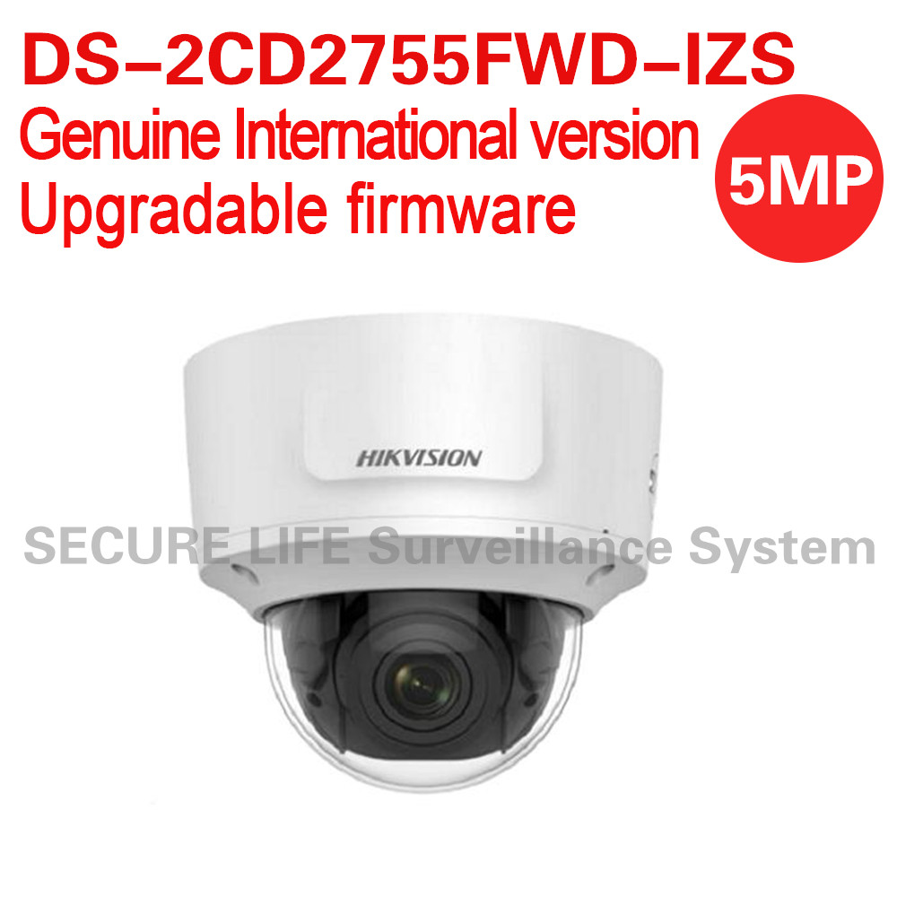 English version DS-2CD2755FWD-IZS 5MP network dome cctv camera POE face detection WDR 2.8-12mm VF lens IP67 IK10 H.265+ international english version ds 2cd2h85fwd izs 8mp network turret ip cctv camera behavior analyses wdr vf lens ip67 ik10 h 265