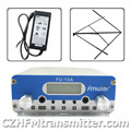FMUSER FU-15A V1.0 FM transmisor de radiodifusión estéreo PLL + antena polarizada circularmente + adaptador de corriente 87.5-108 MHZ