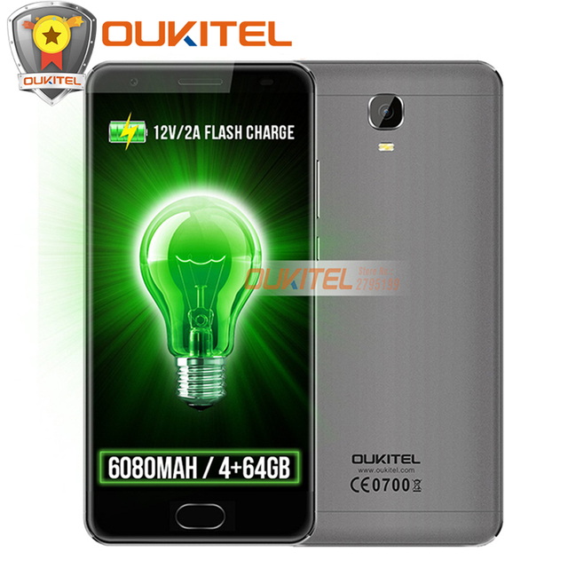 "Oukitel K6000 PLUS 4G Smartphone 6080mAh MTK6750T Octa Core 5.5""FHD 4GB RAM 64GB ROM 16MP Front Touch Flash Charge Mobile Phone"