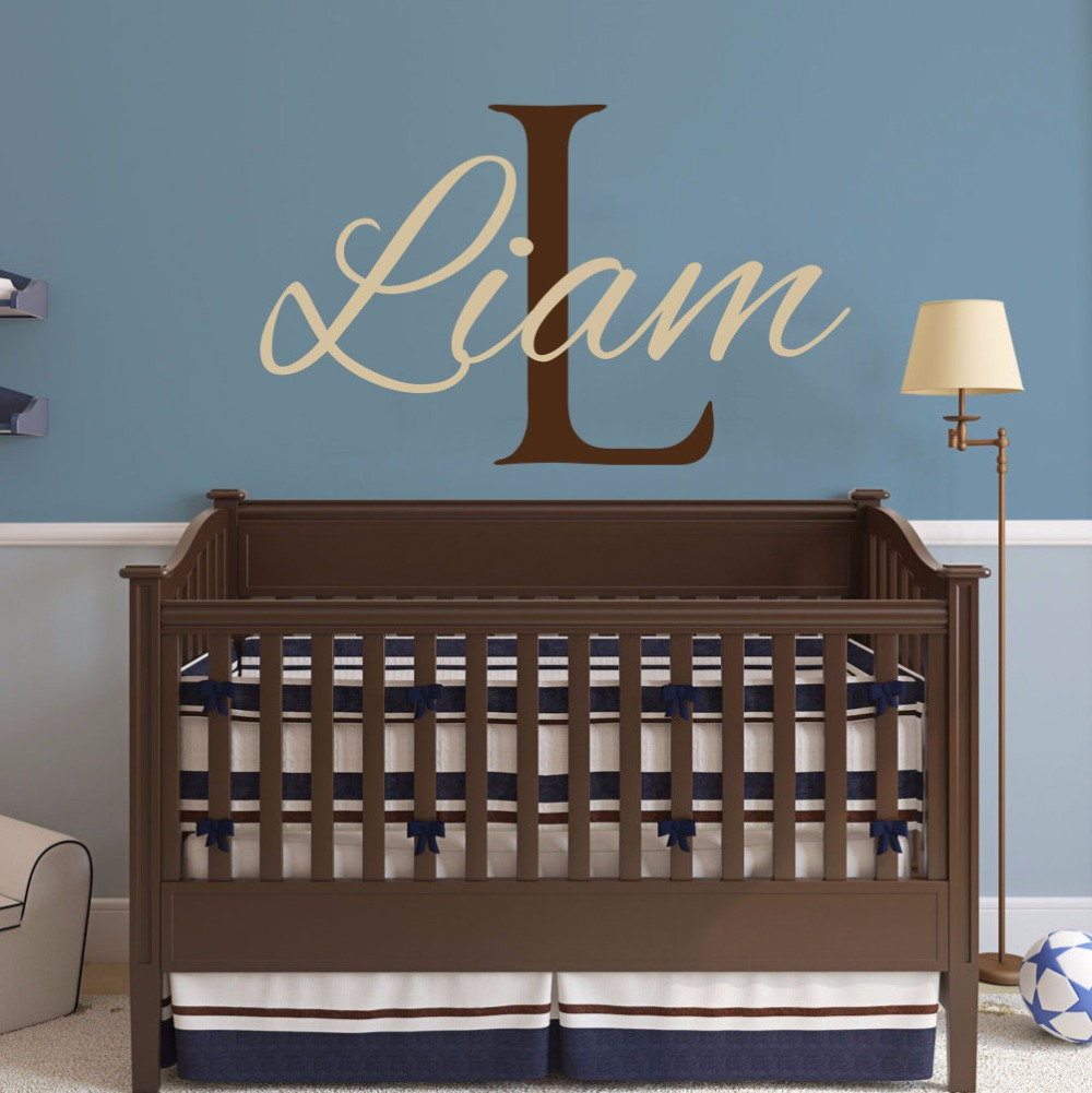 Custom Boys Name Decal Vinyl Decal Stickers Personalized ...