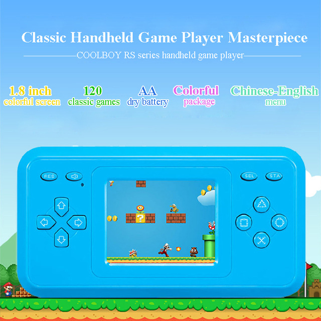 COOLBOY RS 28 1 8inch colorful screen handheld game console video game console Mini portable English