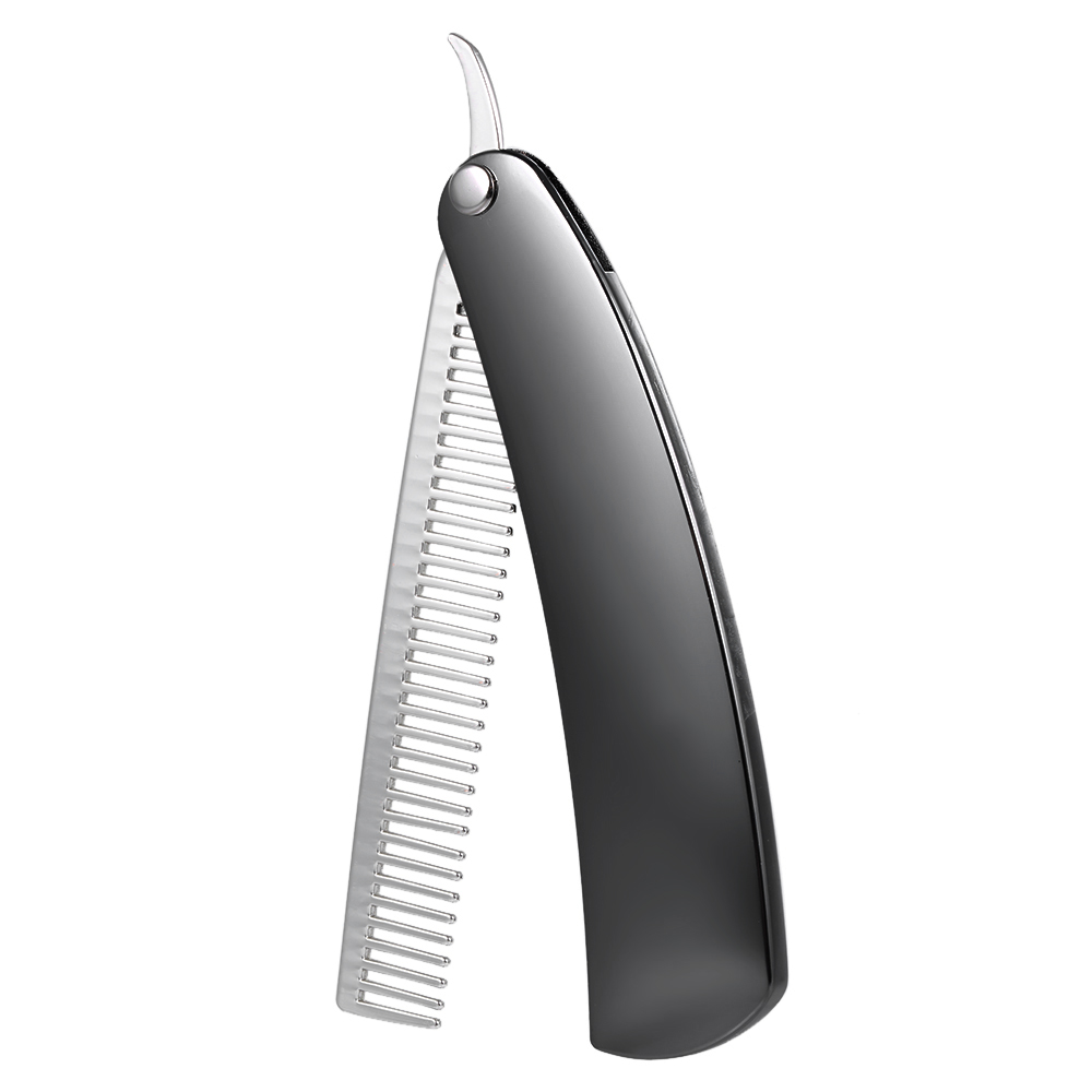 Beard Comb Stainless Steel Shaping Tool Foldable Men Gentleman Beard Trim Shaving Mini Pocket Comb Portable Male Mustache Brush 1