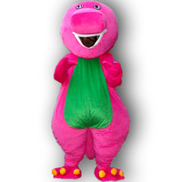 High quality of mascot costume Barney costume of adult size, free shipping