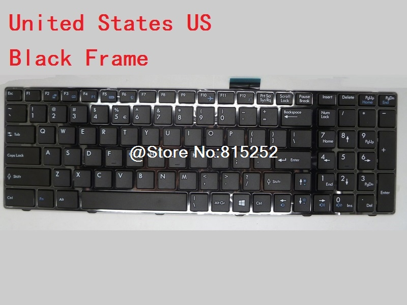 Laptop Keyboard For MSI GP60 2QF-827US GP60 2QF-827US English 2QF-870CZ 2QF-1092XCZ Czech 2QF-1049XTR Turkey 2QF-1055NE Nordic laptop keyboard for clevo w550su1 w551su1 black without frame czech cz