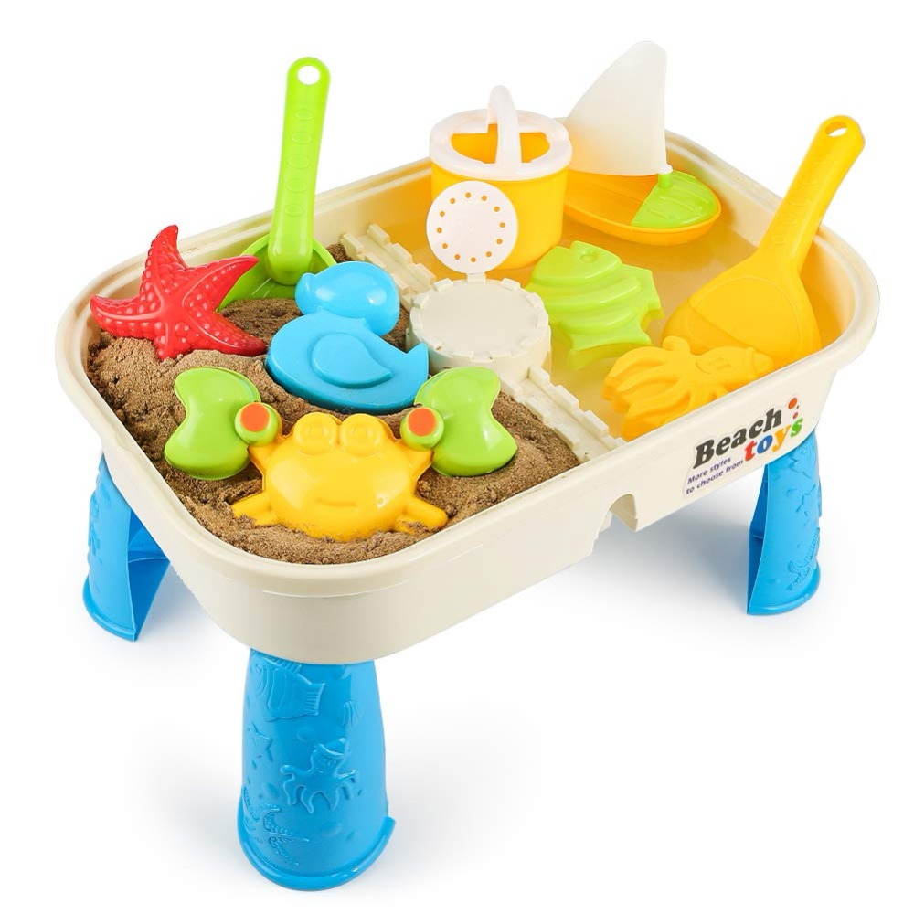 Children's Space Toys Beach Set Boys And Girls Color Mud Safety Green Summer Water Table Gift Box Outdoor Toys Multi-Coloured