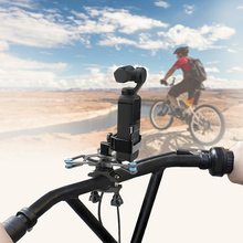 Bicycle holder  bike shock absorbing bracket Metal clip For dji osmo Pocket  gimbal camera Accessories