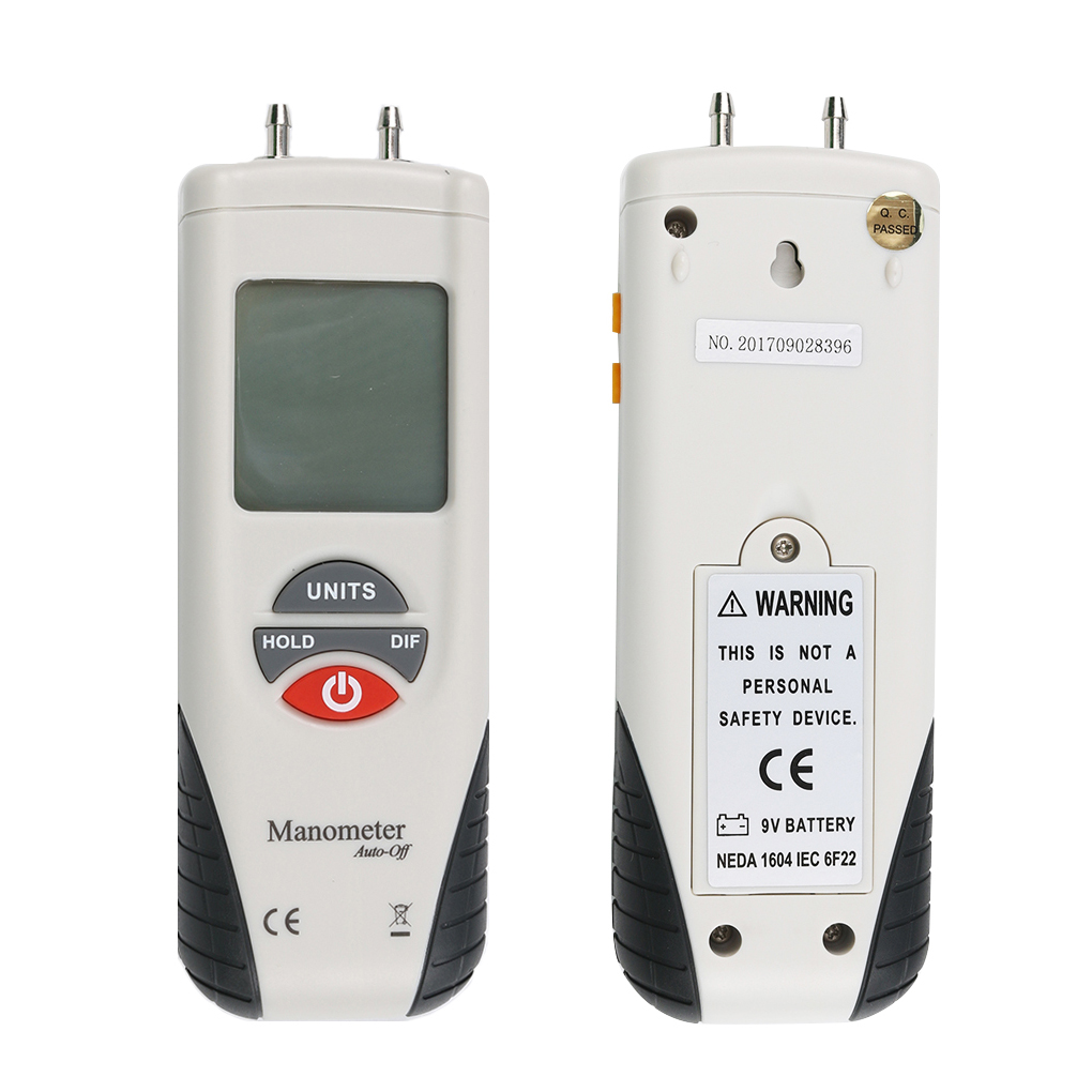 HT-1890 Mini 2Psi Digital Manometer Portable Air Pressure Differential Gauge Meter lcd pressure gauge differential pressure meter digital manometer measuring range 0 100hpa manometro temperature compensation