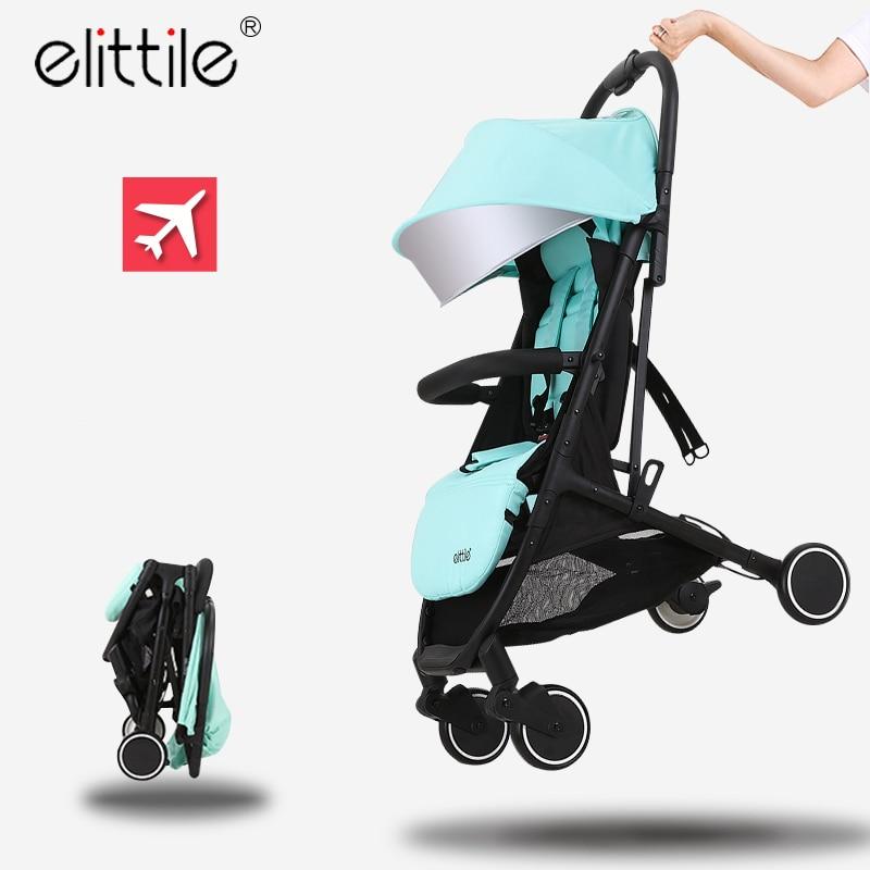 Elittile Baby Stroller For Travel System Folding Baby Strollers 2 In 1 Plane Umbrella Trolley