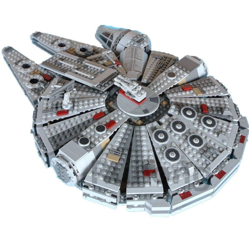 Сокол Тысячелетия Star Wars 1381 шт. мини кубики поштучно распродажа модели и строительные блоки игрушки для детей legopingly