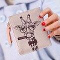Mulheres Saco 2016 de Couro PU Dinheiro Carteira Feminina Meninas Animais impressões Mulheres Carteiras Delicado Dinheiro Titular do Cartão de Zipper bolsa de Moedas sacos