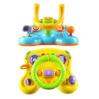 Children's Early Education Sound and Light Deformation With Vibration Steering Wheel Toy