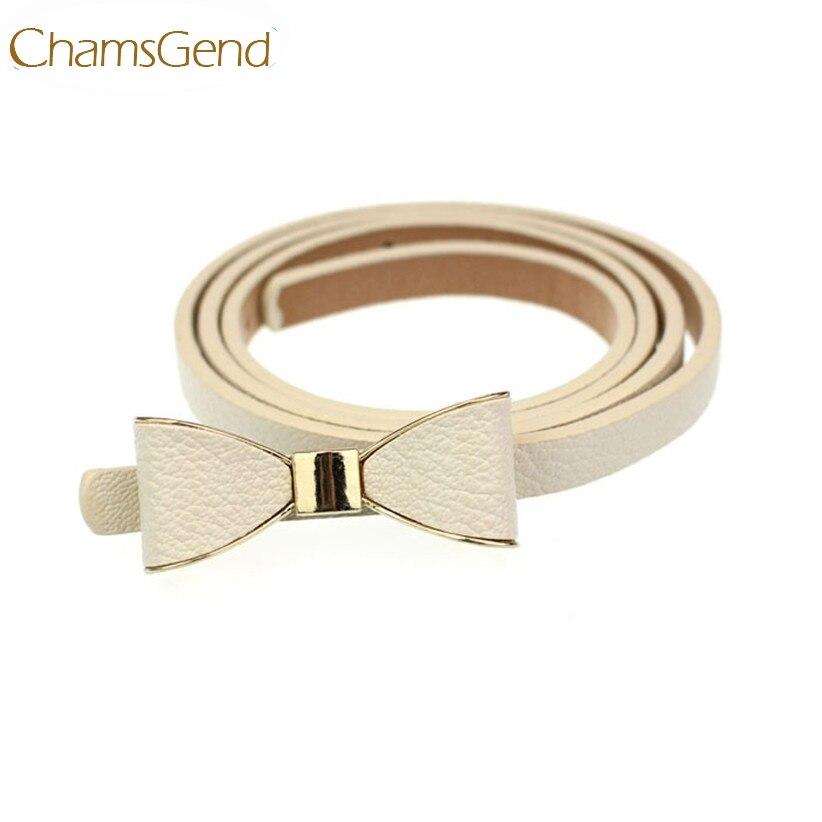 f8b8496e43 Chamsgend Recém Projeto QUENTE Moda Mulheres Magras Borboleta Arco Cintura  Cinto de Couro Cós July14 Transporte da gota