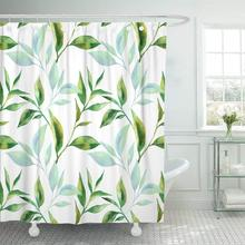 Shower Curtain with Hooks Green Leaf with font b Tea b font font b Leaves b