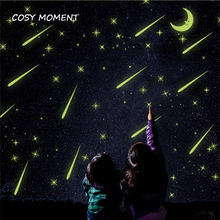 COSY MOMENT Meteor Shower Luminous Stickers Sky Stars Shine In The Dark Fluorescence Wall Sticker For Kids Room QT486
