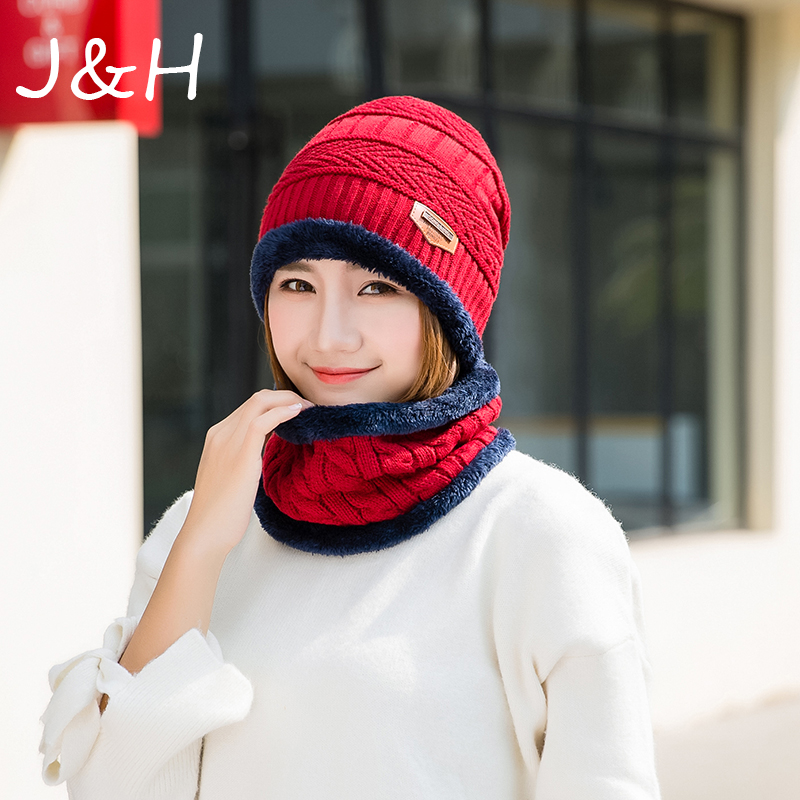 Fashion Balaclava Knitted Hat Scarf Neck Warmer Winter Thicken Hedging Cap knit Women Men   Skullies     Beanie   Hats Gift